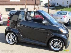 black 2009 smart fortwo brabus cabriolet exterior