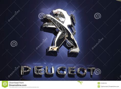 peugeot germany peugeot lion company logo editorial stock image image