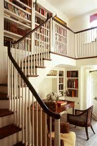 Bookshelves On Stairs Office Stairs And Bookcases Reading Nook