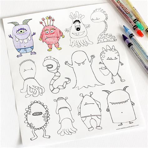 love monster coloring page links with love the ultimate list of free printable