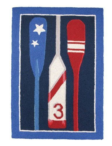 nautical decor rugs nautical oars hooked rug great for the bath the