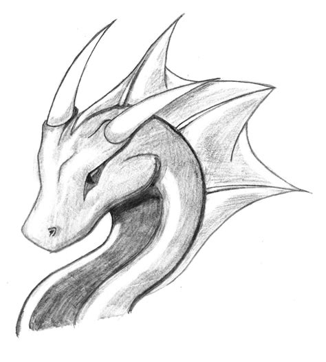 Easy Sketches Of Dragons Drawings Nocturnal