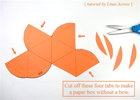How To Make A Paper That Opens - diy gift boxes with free printable octahedron