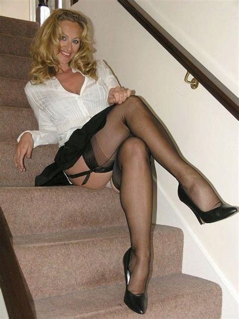 cougar mom stockings high heels images