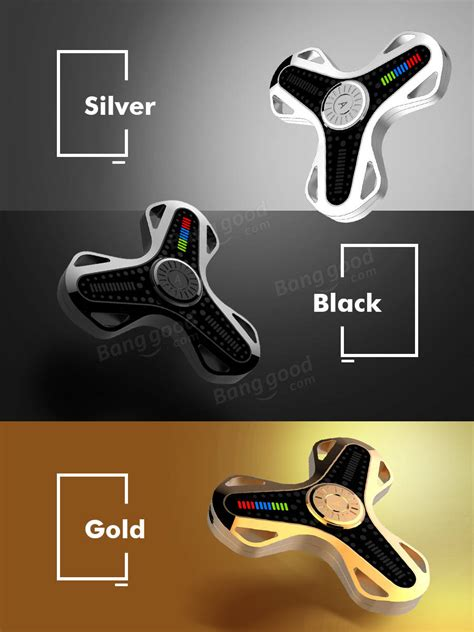Fidget Spinner Transparan 3 Led Mode Switch Steel Bearing aiture app fidget spinner bluetooth chargeable led app led spinner gadgets