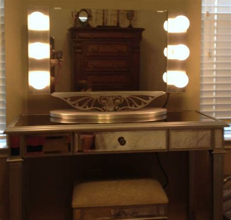 create a vanity table with lighted mirror doherty house
