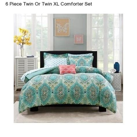 twin xl comforter size girl s 6 piece paisley twin twin xl size comforter set