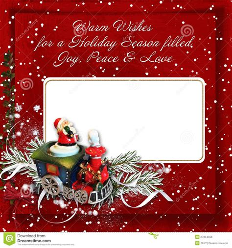 christmas greeting card  warm wishes royalty  stock  image