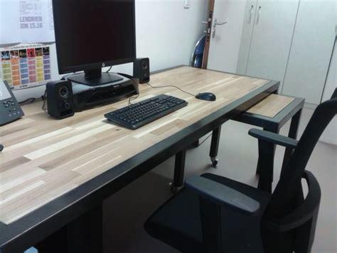 plateau de bureau sur mesure bureau professionnel moderne en bois et m 233 tal r 233 alis 233 e sur
