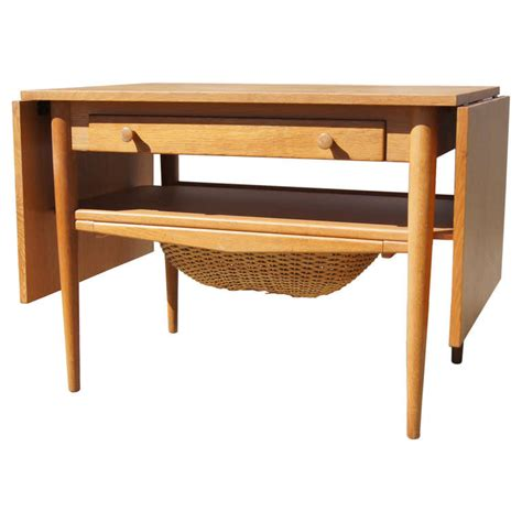 how to a drop in sewing table drop leaf sewing table after hans wegner at 1stdibs