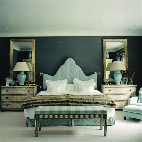 mirror above headboard staggered mirrors over headboard design ideas