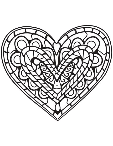 coloring hearts hearts coloring pages for adults best coloring pages for