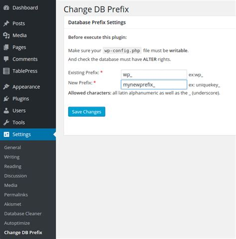easily change prefixes in a database in minutes uv design how to rename your wordpress database tables prefix after