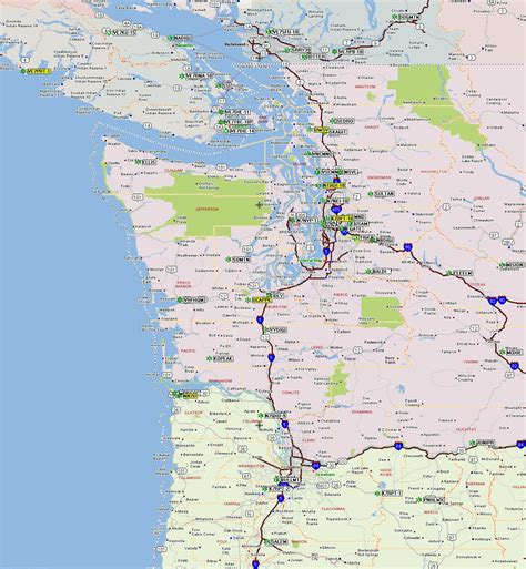 pacific northwest map map of pacific northwest my