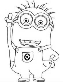 printable minion coloring pages minion coloring pages smart happy