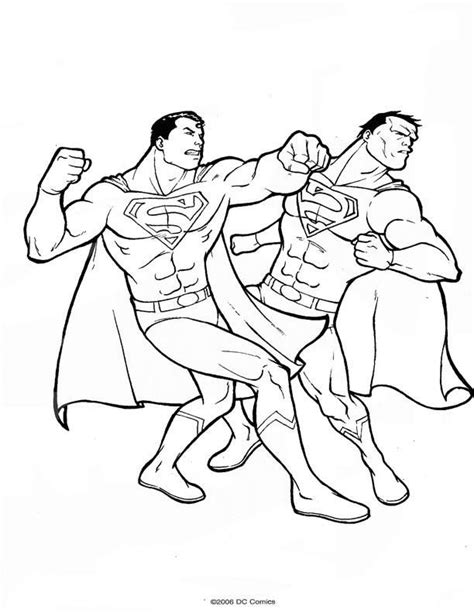 coloring pages superman picture 17