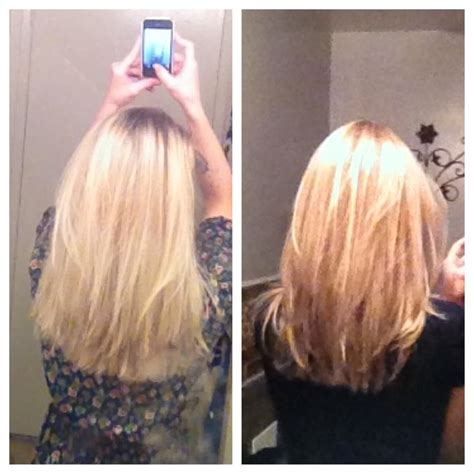 before bleach blonde and overgrown cut after natural