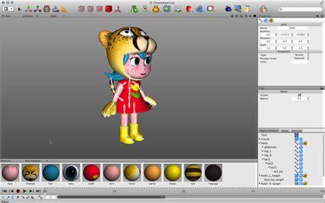 simple 3d modeling software cheetah 3d
