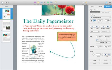 book layout pages mac pages 5 0 for mac review apple writes a new chapter for