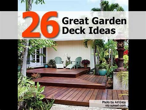 Deck Garden Design Ideas 26 Great Garden Deck Ideas