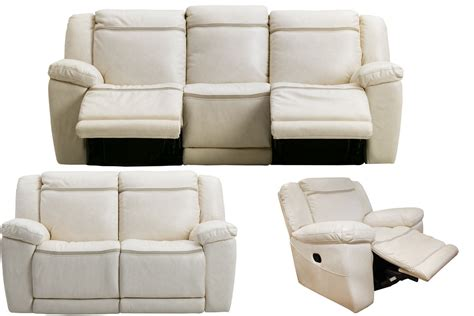 Isabel Leather Reclining Sofa Loveseat Glider Recliner White Recliner Sofa