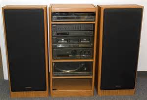 Audio System Rack Vintage Technics Audio System In Rack Speakers Turntable