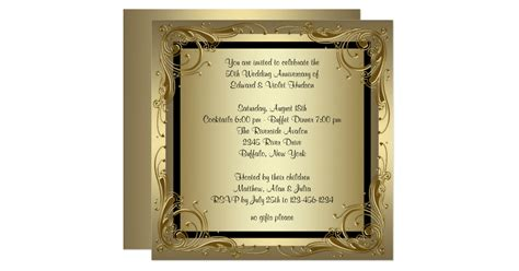 Wall Stickers Create Your Own elegant gold 50th wedding anniversary party card zazzle com