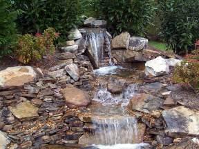 Make Backyard Waterfall Backyard Pond Ideas With Waterfall Marceladick Com