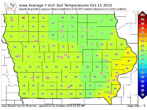 iowa state soil temperature map farmers reminded to wait until soil temps are 50 degrees