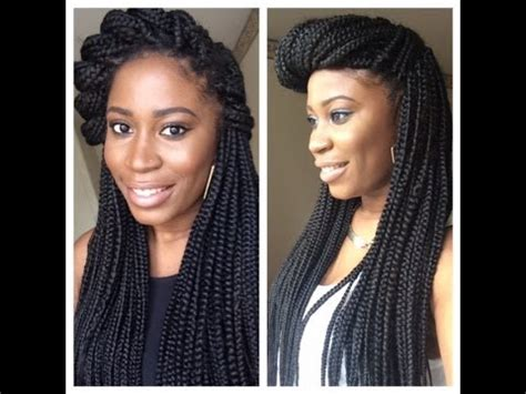 box braids heavy box braids syles the classic up do tutorial how to