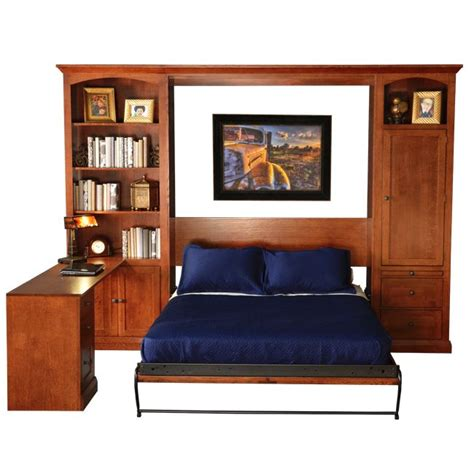 queen wall bed with desk the elegant pasadena murphy bed wall bed is available in