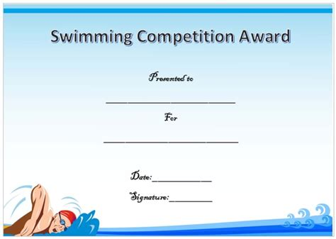 free swimming certificate templates 30 free swimming certificate templates printable word