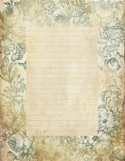 vintage writing paper lilac lavender quot antiqued quot lined paper stationery