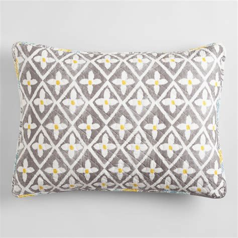 yellow and gray allison pillow shams set of 2 world market