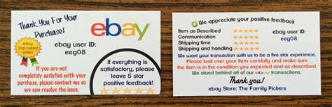 ebay store business card template the best ebay business cards ebay sellers