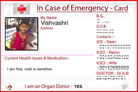 emergency contact card template uk in of emergency card template free programs