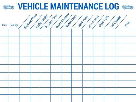 vehicle service checklist template car maintenance checklist spreadsheet free papillon northwan