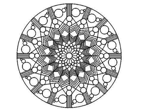 imagenes de mandalas con circulos dibujo de mandala flor con c 237 rculos para colorear