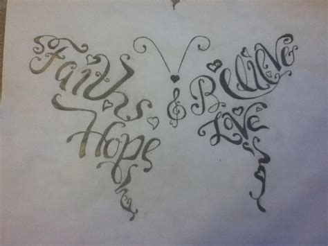 believe word tattoo designs word butterfly design by kati on deviantart