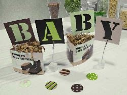 Army Baby Shower Theme by Camo Baby Shower Table Decorations Theme Set