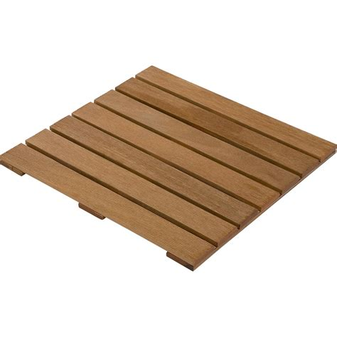 terrasse 50 cm hoch caillebotis bois l 50 x l 50 cm x ep 24 mm leroy merlin