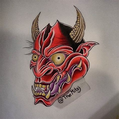 hannya mask with spear tattoo design 46 best images about tattoo designs drawings on