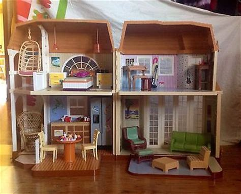 disney doll house disney hannah montana friends malibu beach dream doll house barbie dollhouse