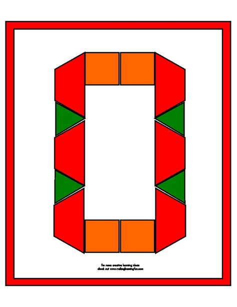 pattern block number templates o is for octopus pinterest