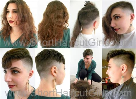 before and after fade haircuts on women clipper cut makeover www shorthaircutgirls short haircut