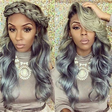 grey hair weaves for african american women 25 new grey hair color combinations for black women the