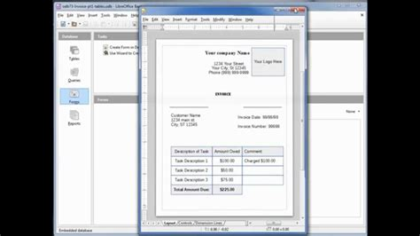 invoice template libreoffice invoice template libreoffice hardhost info
