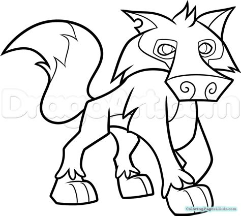 Animal Jam Wolf Coloring Pages