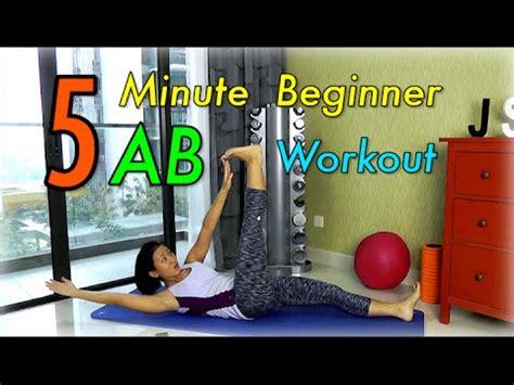 5 minute beginner ab workout for flatter tummy