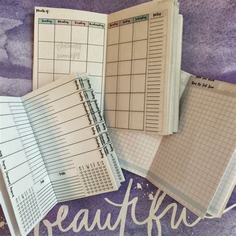 Free Printable Traveler S Notebook Inserts free traveler s notebook inserts printables monthly